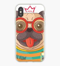 Vinilo o funda para iPhone pug divertido