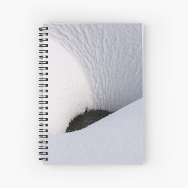 fancy snow layout on the ground Spiral Notebook