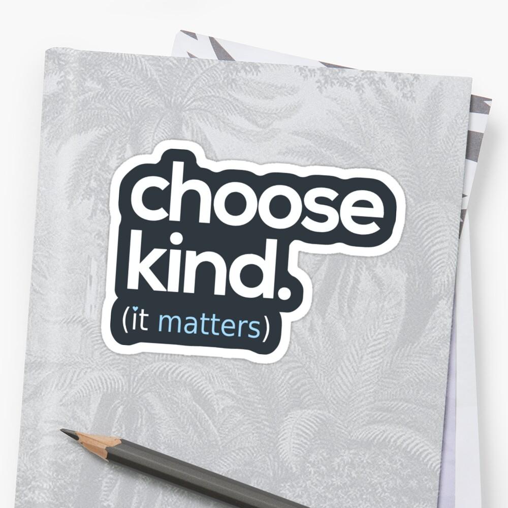 Choose Kind, Kindness Matters Sticker