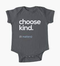 Wähle Kind, Freundlichkeit Baby Body Kurzarm