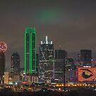 Dallas Halloween Skyline by josephhaubert