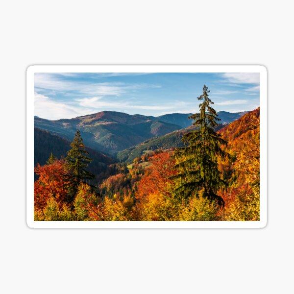 beautiful autumn scenery in mountains Sticker