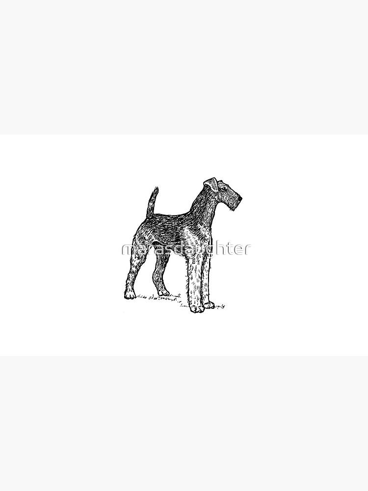 Airedale Terrier Zeichnung von marasdaughter