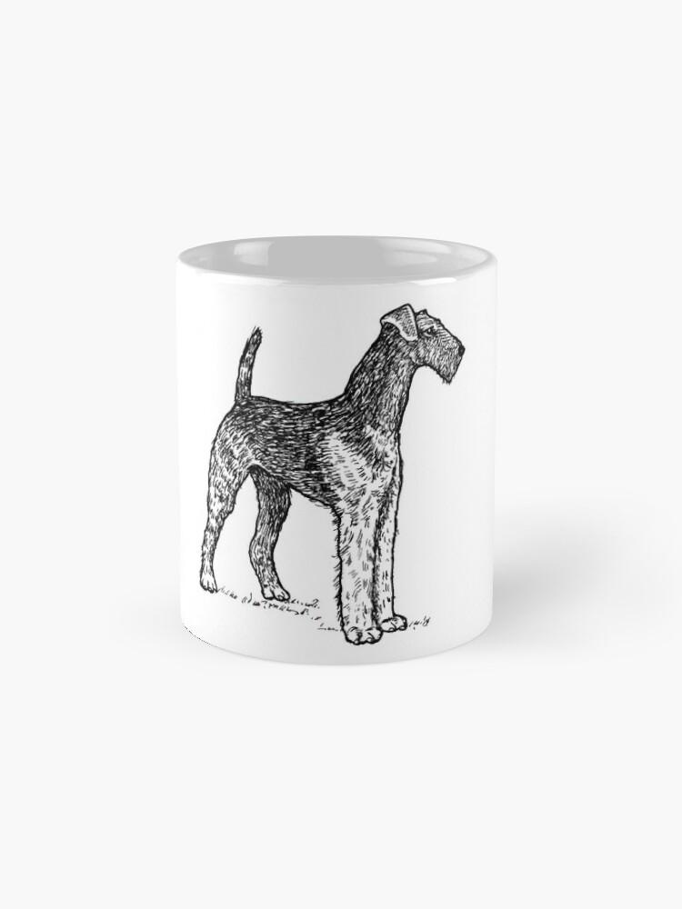 Alternative Ansicht von Airedale Terrier Zeichnung Tassen