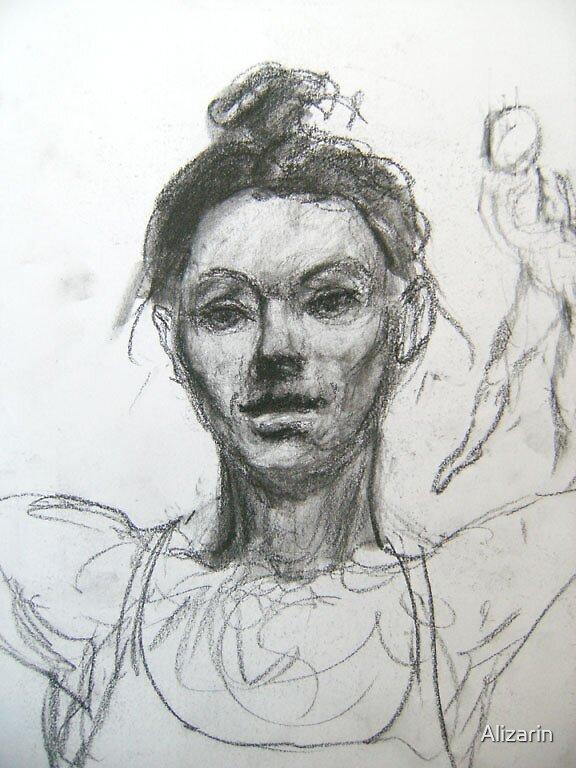 Head Study by Alizarin