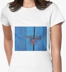 Old Lock on a Church Door Women's Fitted T-Shirt