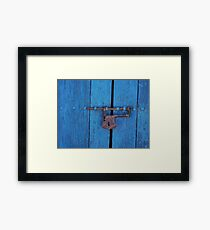 Old Lock on a Church Door Framed Print