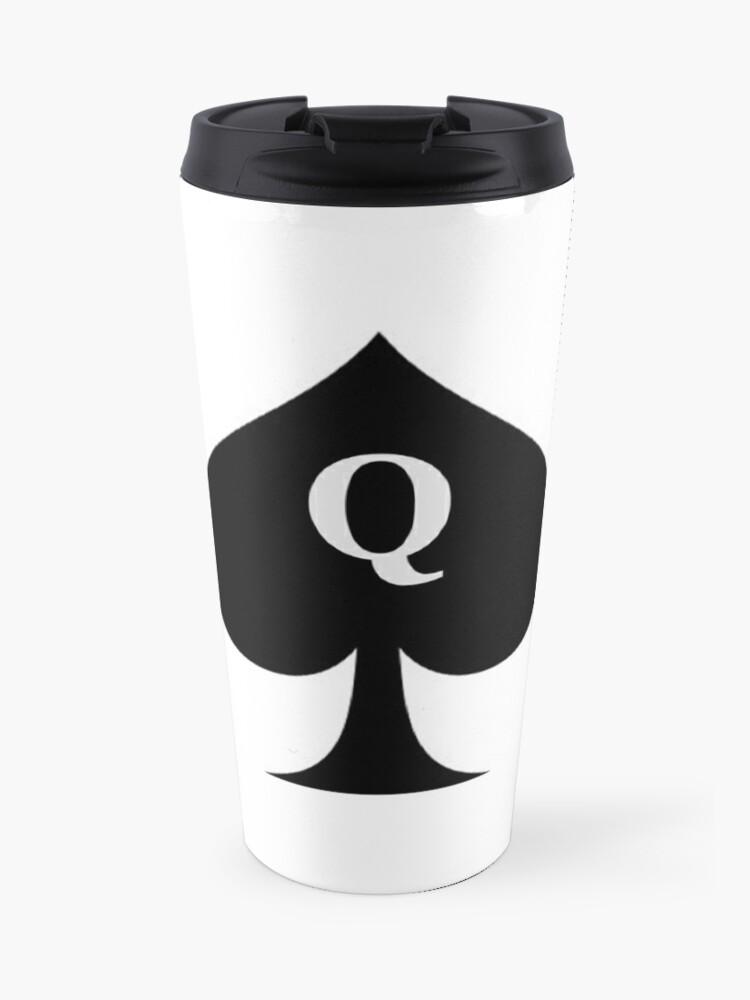 Queen Of Spades Hotwife Gifts Q Inside Black Spade Gift Ideas For Bbc Swinging Hot Wife Big Swingers Travel Mug By Merkraht Redbubble