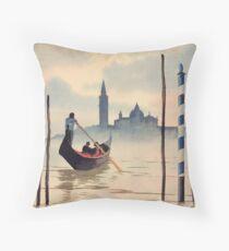 San Giorgio Island Venice Throw Pillow