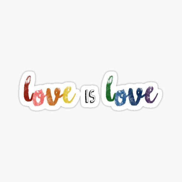 """""""Liebe ist Liebe"""" LGBTQ + Stolz Sticker"""
