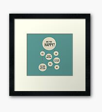 Are You Happy Flowchart Framed Print