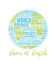 Vision of Earth - Positive Future Vision of Earth Word Cloud by jitterfly