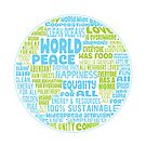 Vision of Earth World Word Cloud by jitterfly