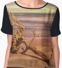 Sculptures on the Beach Chiffon Top