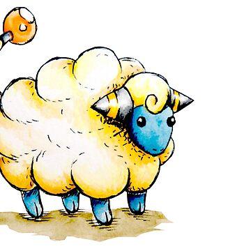 Inktober Day 1: Maweep by PikachuHat