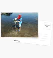 Best Fun Ever - Child Playing In Water Postcards