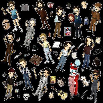 Nightmares: the american serial killer (black) by Bantambb