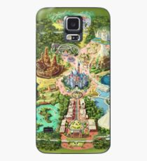 Disneyland Colorful Map Case/Skin for Samsung Galaxy