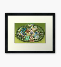 Disneyland Colorful Map Framed Print