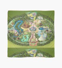 Disneyland Colorful Map Scarf