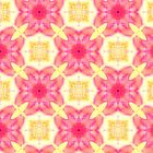 Pink fleurons pattern by Silvia Ganora