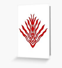 flames (red) - papercut pattern Greeting Card