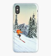 Skiing - The Clear Leader iPhone Case/Skin
