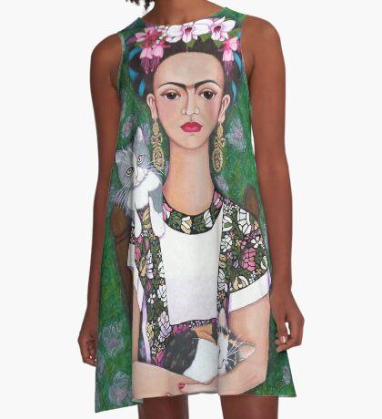 Frida cat lover - closer A-Line Dress