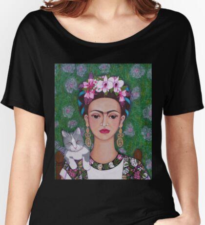 Frida cat lover - closer Women's Relaxed Fit T-Shirt