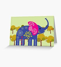 Decorated elephant Greeting Card