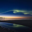 Auroras and sunset by Frank Olsen