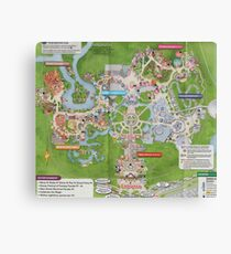 Magic Kingdom Map Canvas Print