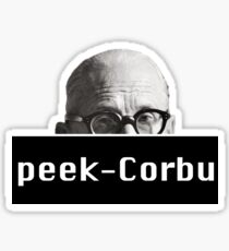 Peek-Corbu Sticker