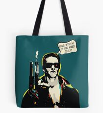 Popart style The Terminator film quote Tote Bag