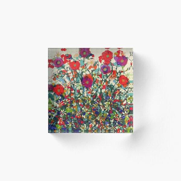 Blooming Garden Acrylic Block