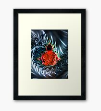 Buddha in the maelstrom of time Framed Print
