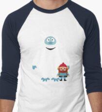 Abominable Snowman & Friend Men's Baseball ¾ T-Shirt