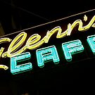 Glenn's Cafe in Neon by Douglas E.  Welch