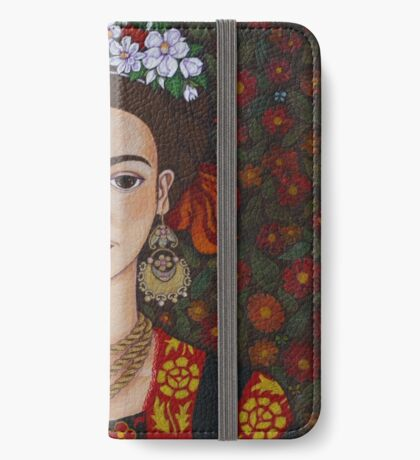 Frida Kahlo with butterflies  iPhone Wallet