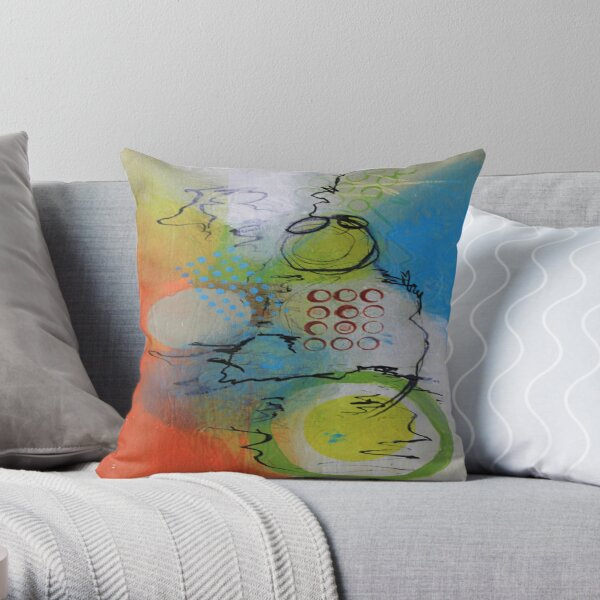 Flying in the Clouds Throw Pillow