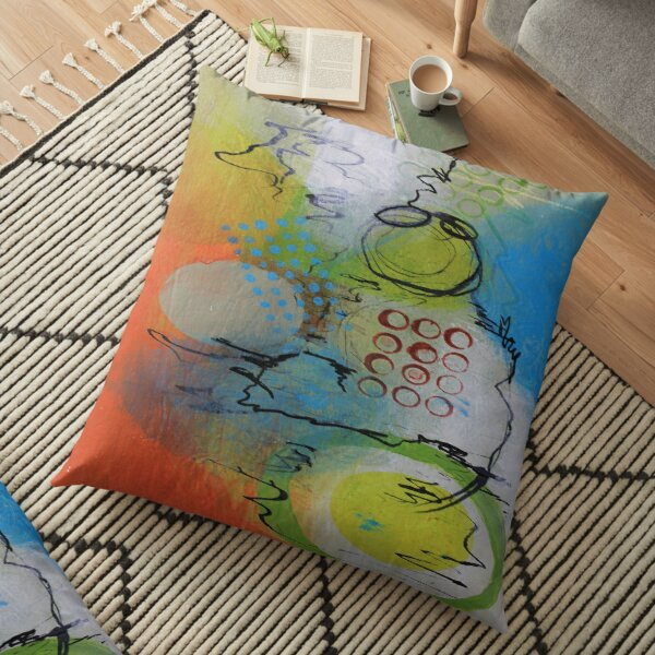 Flying in the Clouds Floor Pillow