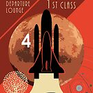 Mars Tours - Retro Space print by Robert Cook