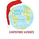 Christmas Wishes - Vision of World Peace - Earth Word Cloud by jitterfly
