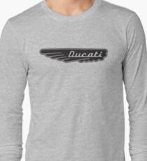 Retro Ducati Motorcycle Motorbike Long Sleeve T-Shirt