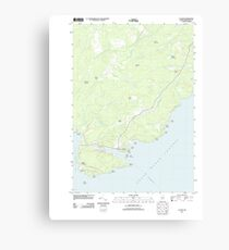 Maine USGS Historical Map Cutler 20110909 TM Canvas Print