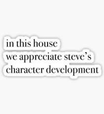 harrington character development Sticker