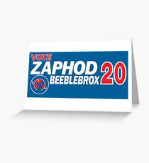 Zaphod Beeblebrox 2020 Greeting Card