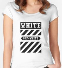 off black and white Women's Fitted Scoop T-Shirt