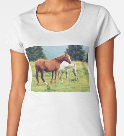 Romanian horses Women's Premium T-Shirt