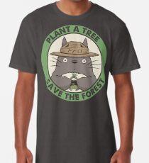 Camiseta larga Salva el bosque
